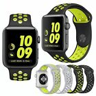 Silicone Replacement Sports Watch Band Strap For Apple Watch 1/2 38mm/42mm Large
