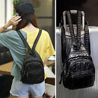Faux Leather Convertible Small Mini Sling Backpack Ruchsack Chest Pack Purse Bag