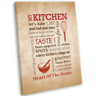 Kitchen Theme Wall Art Print Framed Picture Food & Drink