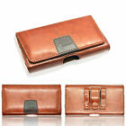 Genuine Leather Holster Belt Pouch Case Twin Clip Loop Protective Cover Designer
