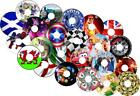Wheelchair Spoke Guards & Stickers protector Any Designs 0002
