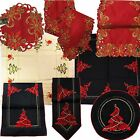 Christmas Xmas Table Runner, Table Cloth Topper, Coasters,Embroidered