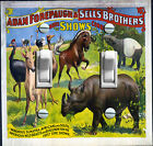 Vintage Circus Poster - Adam Forepaugh & Sell Bros Switch Plate *FREE SHIPPING*