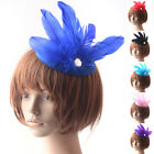 Headpieces Fascinator Feather Hair Clip Crystal Hat Party Ascot Races Women Gift