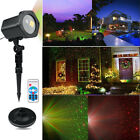 Christmas Laser Landscape LED Garden Lawn Projector Moving Star Xmas Stage Light