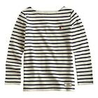 *BNWT* Joules Jnr Girls Breton Long Sleeved Navy Cream Stripe Striped Top Soft