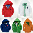 NWT Baby Boy Girl Toddler Hoodie Jacket Coat Full Zip Long Sleeve Sweatshirt