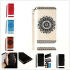 New Wallet Flip Leather Phone Case Cover For Apple iPhone Samsung Galaxy Note