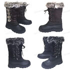 26aa5519ea6 Womens  Winter Boots Fur Warm Insulated Waterproof Zipper Ski Snow Shoes  Sizes