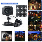 US Laser Projector Lamp 12Slides Garden LED Night Light Xmas Spotlight Landscape