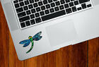 "CLR:TP - Dragonfly D3 - Stained Glass Trackpad Vinyl Decal ©YYDC(2.75""W x 2.5""H)"