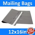 *12x16in* Grey Mailing Bags, Strong Poly Postal Postage Mail, Inc VAT, Free P&P