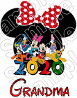 Disney World Mickey Family 2017 Vacation Iron On T Shirt Fabric Transfer #596