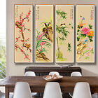 Chinese Culture Four Gentlemen in the World of Flowers Stamped Cross Stitch Kit