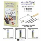 Beadalon Artistic Wire Jewelers Saw Frame with Blade Assortment & Replacements