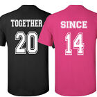 COUPLE t-shirts Together Since Love shirt Valentine's Day gift tee crewneck U