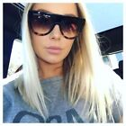 "Retro ""Shadow"" Ombre Gradient Two Tone Flat Top Designer Inspired Sunglasses"