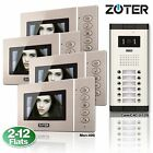 ZOTER 4.3 Inch LCD Video Door Bell Phone Monitor Intercom System 2 to 12 Units
