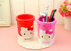 Hello Kitty Plastic Brush Storage Pen Pencil Pot Holder Container Desk Organizer