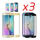 3x 9H+ Tempered Glass Curved Full Screen Protector For Samsung Galaxy S7 S8 Plus