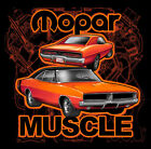 MOPAR MUSCLE Dodge Charger Jet Black Hot Rod Tee Shirt GEAR HEADZ PRODUCTS