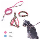 Dog Leash Set For Small Pet Training Puppy Belt Adjustable Nylon Collar Harness