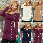 Fashion Women Loose Long Sleeve Cotton Shirt Casual Blouse Tops T-shirt Tees New