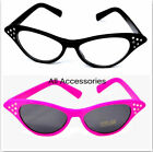 Pink Lady Glasses Grease Pink Black Frame 50's Fancy Dress Hen Nights Partys