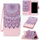 Henna Mandala Flip PU Leather Mix Card Wallet Stand Case Cover For Phones #H