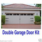 Carriage House Style Vinyl Garage Door Decal Kit Faux Windows & Hardware