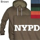 MEN'S PULLOVER HOODIE NYPD POLICE #17 ARMY - S to 4XL PLUS