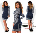 Beautiful Woman Dress French knitted fabric Long Sleeve Above Knee- Plus size