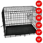Pet Cage 18-48 Inch Dog Animal Crate Home Folding Door Training Kennel