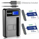 Kastar Battery and LCD Slim USB Charger for Sony NP-BD1 FD1 Type D Cybershot DSC