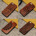 Natural Carved Wood Wooden Pattern Hard Case For iPhone 7 6 6s Plus 5 5s SE