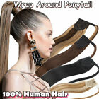 New Clip in Remy Human Hair High Ponytail drawstring/ wrap around extensions