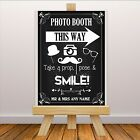 Personalised Vintage Wedding PHOTO BOOTH Sign Banner Print N113 Chalkboard Style