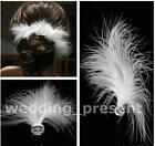 6/12/20 New Wedding Bridal feather Hair Pins Hair Clip Clear Crystal Barrettes