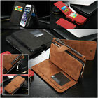 Real Retro Leather Case Zipper Wallet Card Holder For Samsung Galaxy Note 7 2016