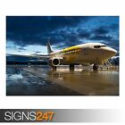 AIRPLANE IN THE EVENING LIGHT (AA011) AIRCRAFT POSTER - Poster Print A0 A1 A2 A3