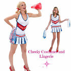 Cheerleader Playboy Costume Size 12 Sport Pom Poms