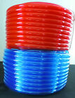 "1/4"" ID x 3/8"" OD - 50 ft, Translucent Red or Blue Flexible PVC Vinyl Tubing"