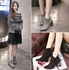 Women's fashion chunky heels flannelette Short boots Martin boots Knight shoes