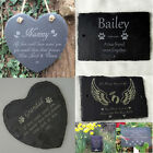 Personalised Engraved Pet Memorial Slate Stone Heart Grave Marker Hanging Plaque
