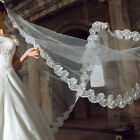 Long Bridal Veils 3-Meter Two Layers Lace Veil With Comb Wedding Accessories