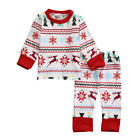 HOT XMAS NEWBORN BABY BOYS GIRLS TOPS BLOUSE +PANTS LEGGINGS CLOTHES OUTFITS SET