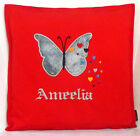 Merry Christmas Personalised Butterfly gift Sofa Bed Car Home Decor red cushion