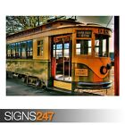 OLD TRAM (AB035) TRAIN POSTER - Photo Picture Poster Print Art A0 A1 A2 A3 A4