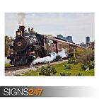 OLD STEAM LOCOMOTIVE (AB011) TRAIN POSTER - Photo Poster Print Art * All Sizes