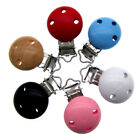 3pcs wooden baby pacifier Clip Round Natural 3 Holes For baby Deco 5.5 x 2.9cm
